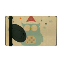 rustic owl,chrismas,pattern,trendy,cute,graphic,mo iPad case