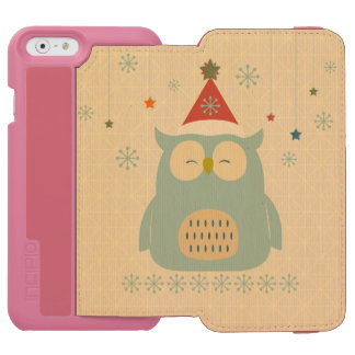 rustic owl,chrismas,pattern,trendy,cute,graphic,mo iPhone 6/6s wallet case