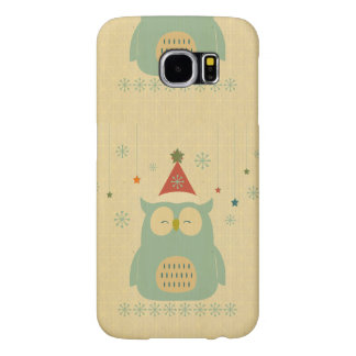 rustic owl,chrismas,pattern,trendy,cute,graphic,mo samsung galaxy s6 cases