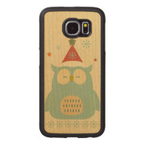rustic owl,chrismas,pattern,trendy,cute,graphic,mo wood phone case