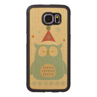 rustic owl,chrismas,pattern,trendy,cute,graphic,mo wood phone case