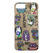 Rustic Owl Design iPhone 8/7 Case