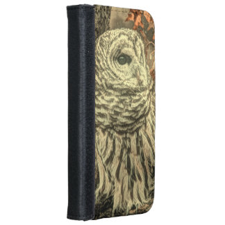 Rustic Owl In Tree Wallet Phone Case For iPhone 6/6s