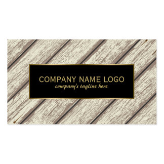 Rustic Paint Peeling Wood Planks Gold Accent Double-Sided Standard Business Cards (Pack Of 100)