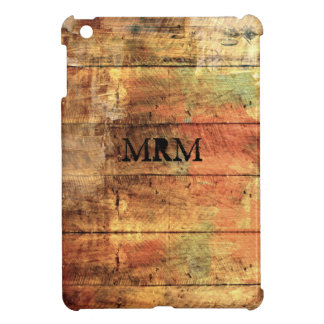 Rustic Painted Wood Personalized iPad Mini Case