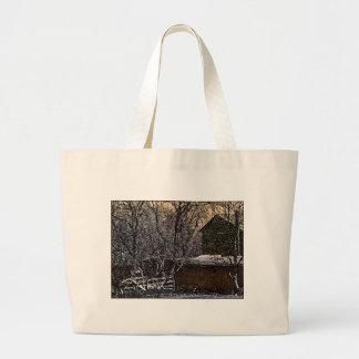 Rustic Painting Large Tote Bag