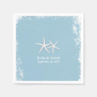 Rustic Pair of Starfish Beach Wedding Napkin