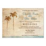 Rustic Palm Trees Beach Wedding Invitations