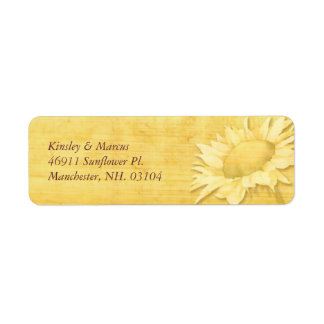 Rustic Papyrus Print + Sunflower Address Labels