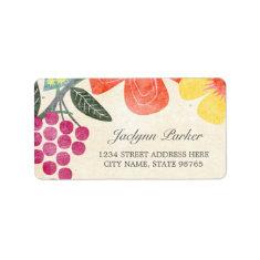 Rustic Paradise Address Labels