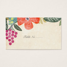 Rustic Paradise | Guest Escort Cards at Zazzle