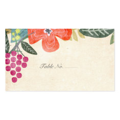 Rustic Paradise | Guest Escort Cards Double-Sided Standard Business Cards (Pack Of 100)