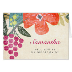 Rustic Paradise Wedding Party Card