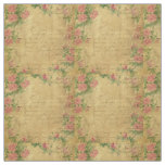 rustic,Parchement,worn,floral,letters,vintage,vict Fabric
