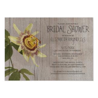 Rustic Passion Flower Bridal Shower Invitations