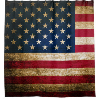 American Flag Shower Curtains | Zazzle