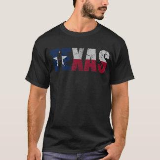 Rustic Patriotic Flag of Texas T-Shirt