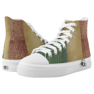 Rustic Patriotic Pattern Zipz High Top Shoes Printed Shoes