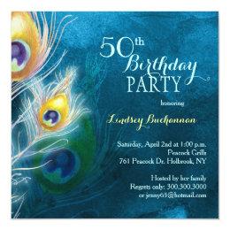Peacock Party Theme 50th Birthday