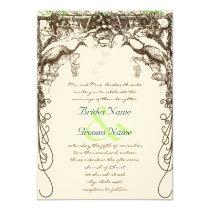 Rustic Peacock Boho Wedding Invitations