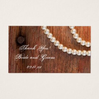 Rustic Pearls Country Barn Wedding Favor Tags
