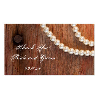 Rustic Pearls Country Barn Wedding Favor Tags Business Card