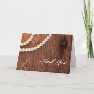 Rustic Pearls Country Bridesmaid Thank You