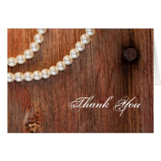 Rustic Pearls Country Bridesmaid Thank You Note Greeting Card