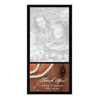 Rustic Pearls Country Thank You Photo Card