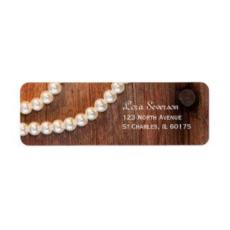 Rustic Pearls Return Address Label