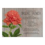 Rustic Peonies Bridal Shower Invitations Personalized Invite