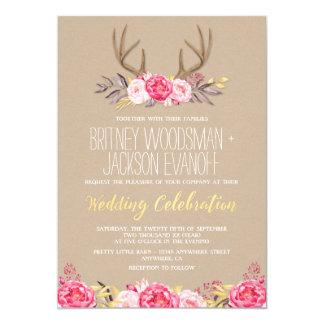 deer antler wedding invitations & announcements | zazzle, Wedding invitations