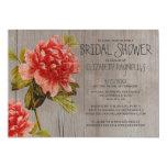 Rustic Peony Bridal Shower Invitations Personalized Invite