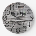 Rustic Personalized Barn Distressed Wood Custom Large Clock