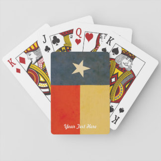 Rustic Personalized Playing Cards Texas Flag
