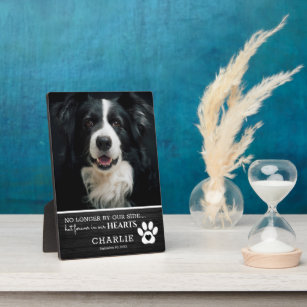 Rustic Pet Forever in Our Hearts   Photo Keepsake Plaque