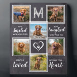"""Rustic Pet Memorial Keepsake Unique Photo Collage Plaque<br><div class=""""desc"""">Celebrate your best friend with a custom pet memorial photo collage plaque . This unique memorial pet dog photo keepsake plaque is the perfect gift for yourself, family or friends to honor those loved . We hope your photo memorial plaque will bring you joy , peace , and happy memories...</div>"""