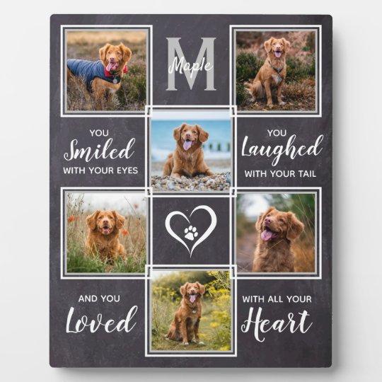 Rustic Pet Memorial Keepsake Unique Photo Collage Plaque