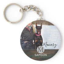 Rustic Pet Memorial PHOTO - In Loving Memory Keychain