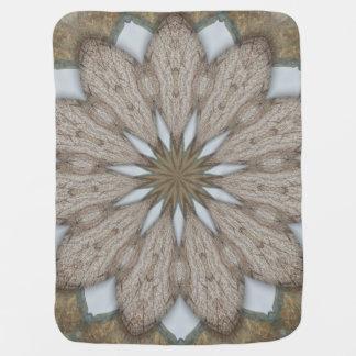 Rustic Petals Flower Mandala Baby Blanket