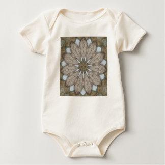 Rustic Petals Flower Mandala Baby Bodysuits