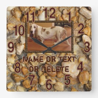 Rustic Photo Clock with Your Picture and Text