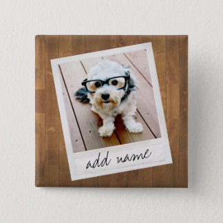 Rustic Photo Frame with Square Instagram and Wood Button