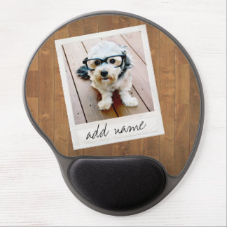 Rustic Photo Frame with Square Instagram and Wood Gel Mouse Pad