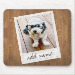 "Rustic Photo Frame with Square Instagram and Wood Mouse Pad<br><div class=""desc"">A vintage and trendy design with a retro picture border that you can add your favorite selfie or portrait of a friend. Use a square photo to create a unique and personal gift or keep the hipster puppy and make a trendy keepsake. If you need to adjust the pictures, click...</div>"
