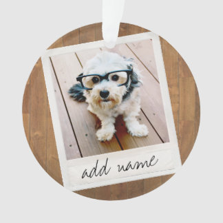 Rustic Photo Frame with Square Instagram and Wood Ornament