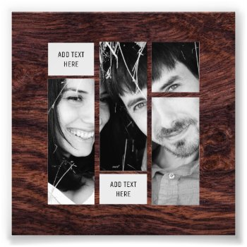 Rustic Photo Text Template - Transfer To ANY Gift