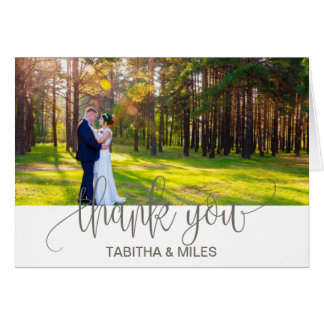 Rustic Photo Thank You Card