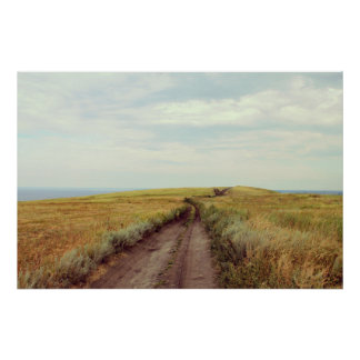 Rustic photography. Landscape print. Country photo Poster