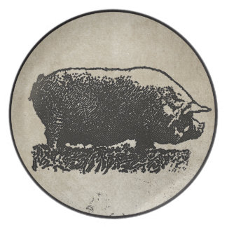 Rustic Pig Etching Plate